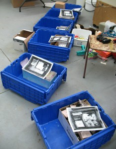 partly filled crates