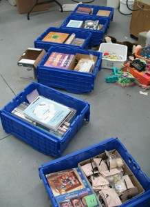 filled crates