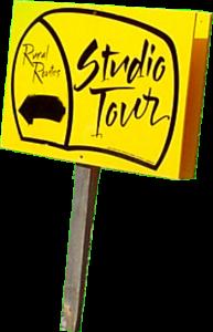 Tour roadside directional sign