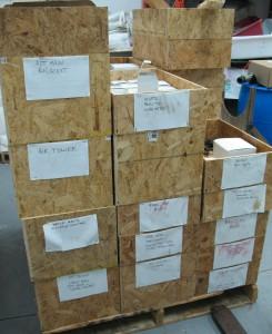 Parts bins (rear)