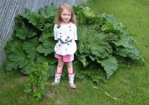 Lily and the rhubarb