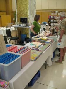Our table at the CBBAG fair