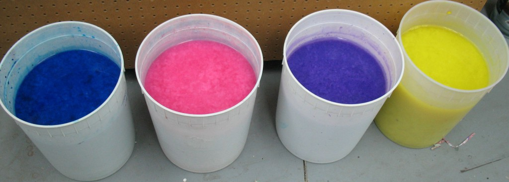 Coloured pulp