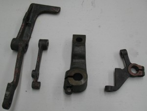 These are four unknown levers. The longest is about 25cm (10″) long.