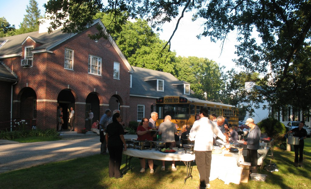 Barbecue on the lawn at the Museum of Printing