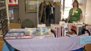 Our sale table at Wayzgoose