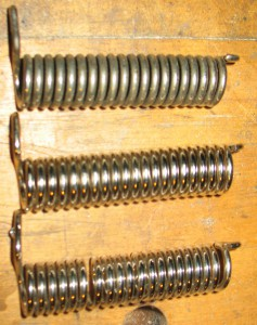 Three home-made springs