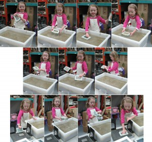 Lily Making Paper