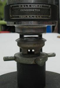 Gurley tester closeup