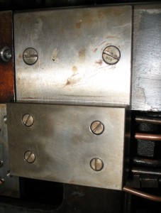 The Unit Adding dummy valve reinstalled on its mounting plate