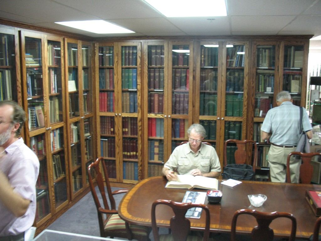 More of the Romano Library, with Sky Shipley looking though an old specimen book