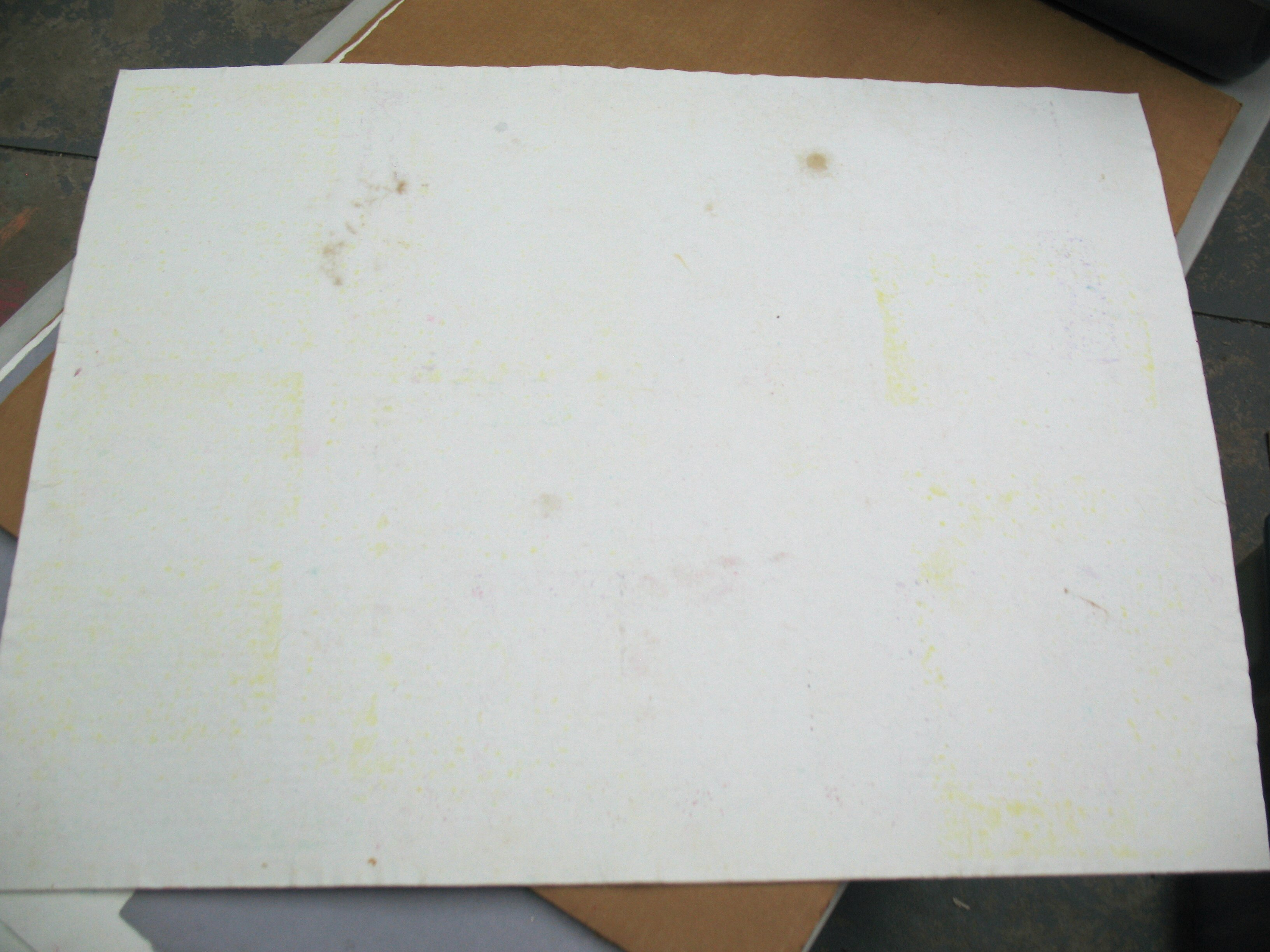 With repeated use, the blotters eventually become stained. These do not, however, transfer back to other paper, because the moisture is always moving from the paper to the blotters.
