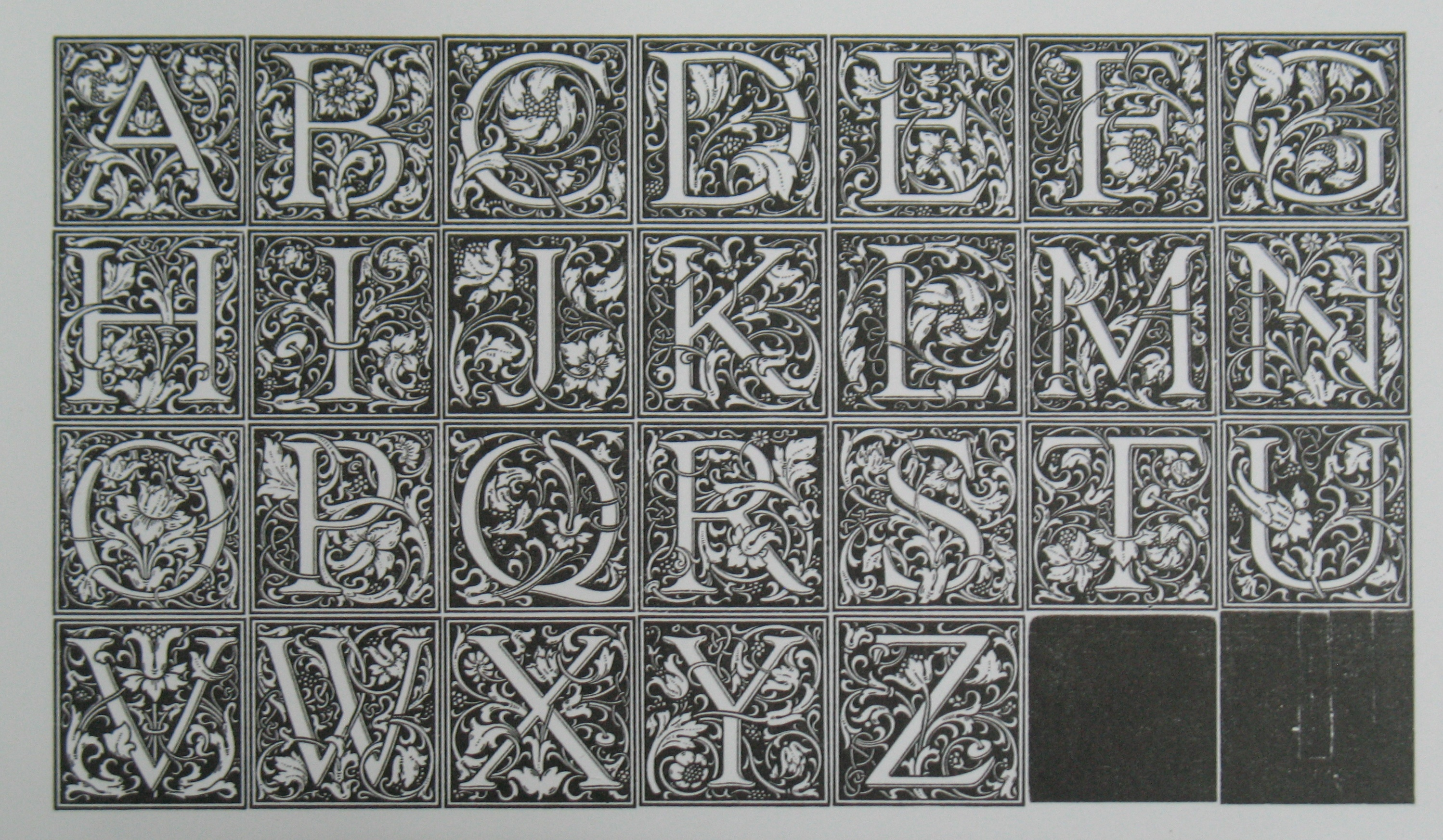 A proof of the Cloister Initials.