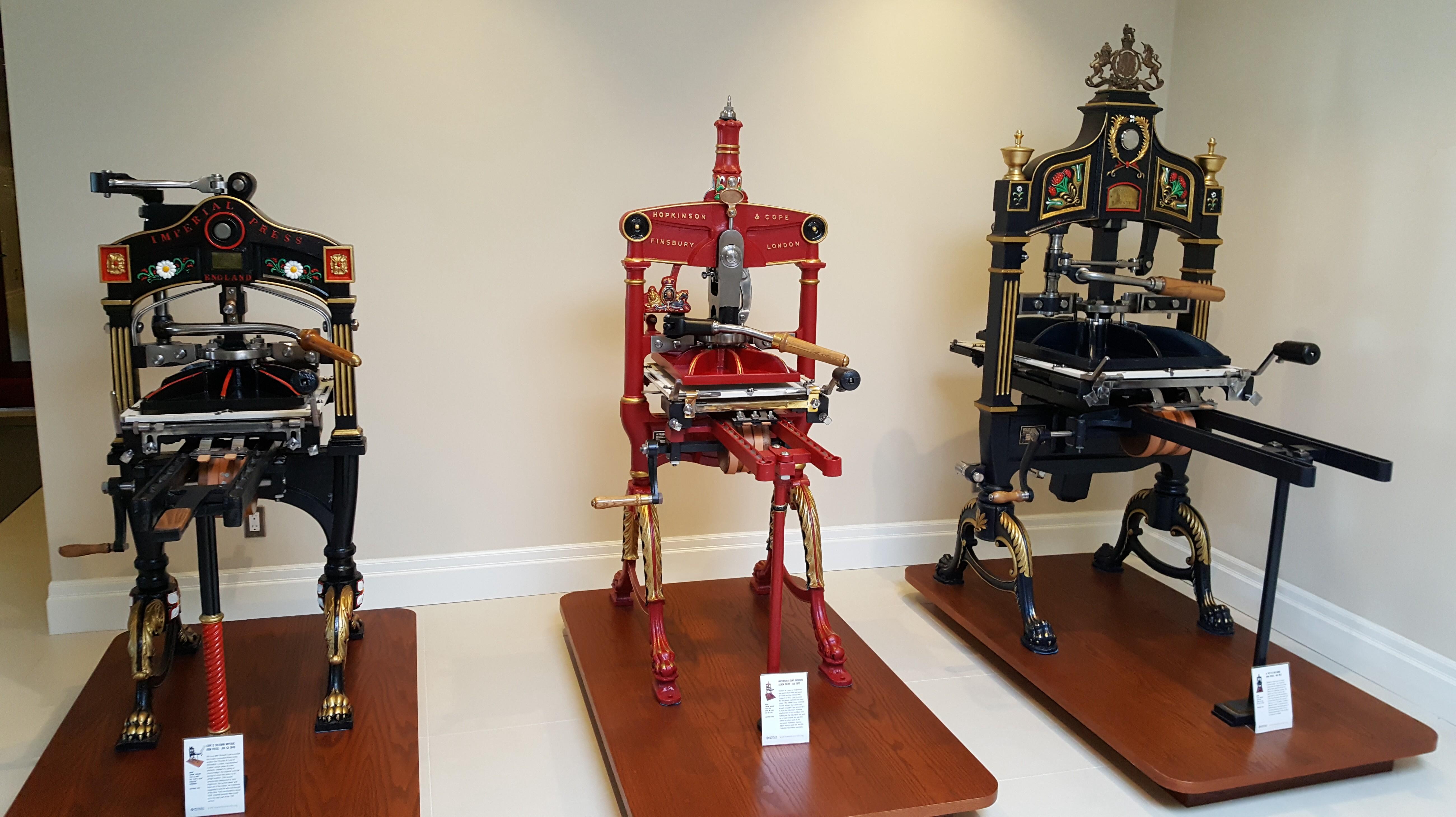 Three English iron presses