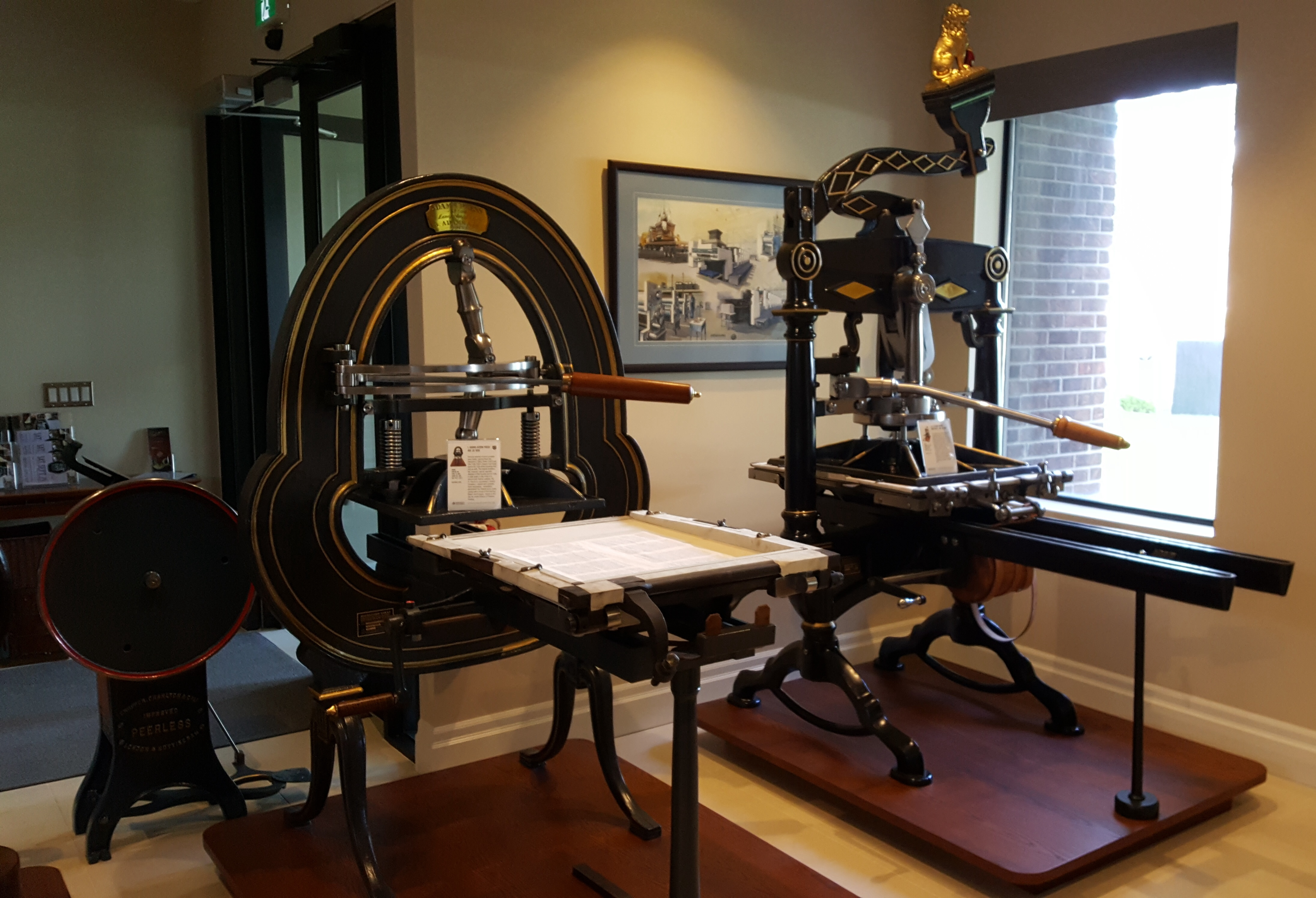 More iron presses, and Peerless platen to meet you at the door